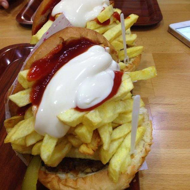 6. Meydan'a gelirken yöresel olmayan fakat Trabzonca uyarlanmış bir lezzet: Ercan Burger