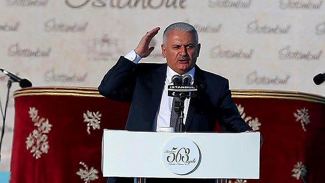Yıldırım: 'Ey Fatih Sultan Mehmet Han; Sen aziz İstanbulu feth için gemileri karadan geçirdin, Erdoğan ve arkadaşları trenleri, arabaları denizin altından geçirdi'