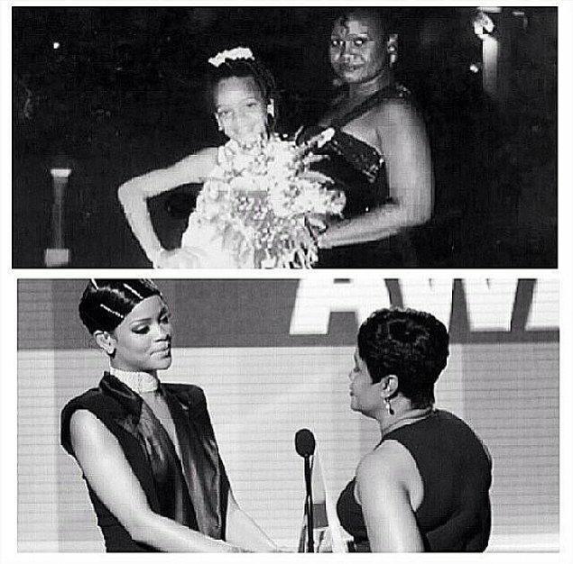 9.Küçüklüğünde annesi Rihanna'nın makyaj yapmasına izin vermiyordu.