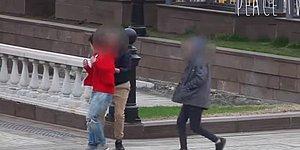 Rus Gençten Moskova'da Türk Bayraklı Sosyal Deney