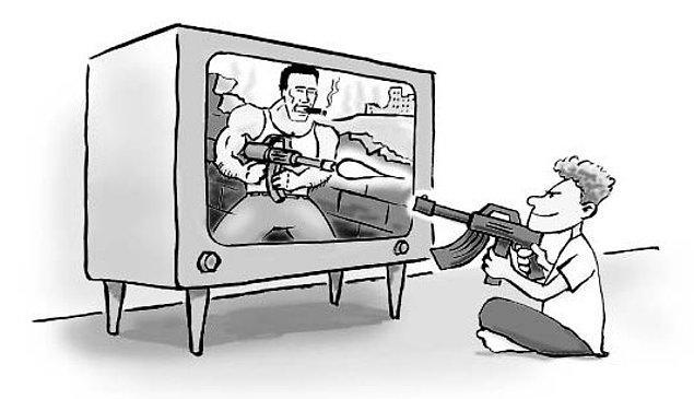 5. Kaldı ki 2009 yılında yürütülen bir çalışma, medya tarafından zihinlerimize pompalanan şiddetin insanlar üzerinde şiddet uygulama eğilimi oluşturmadığını gösteriyor.