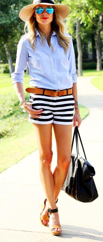 17. Kıyafetlerinizi hareketlendirmenin en güzel ve kolay yoludur şort.