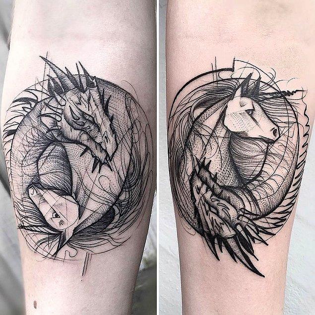 1. Brezilyalı dövme sanatçısı Frank Carrilho, çoğumuzun korktuğu geometriyi bambaşka bir şeye dönüştürmüş.