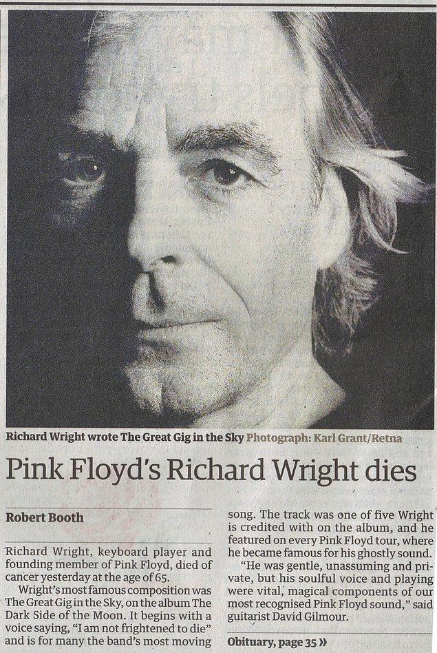 40. Syd Barrett ve Richard Wright'ın Ölümü (2006 ve 2008)