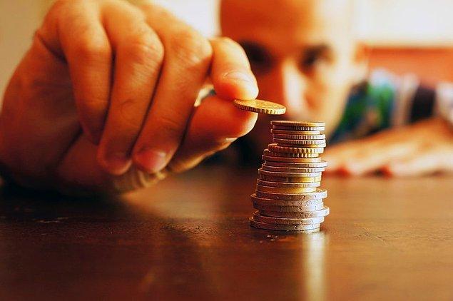 11. Bozuk para boyutuna küçüldün ve ağırlığın da orantılı olarak azaldı.
