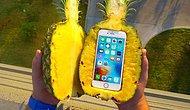 Ananasın İçine Koyulan iPhone'a 30 Metreden Düşme Testi Uygulandı