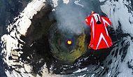 Aktif Volkanın Üzerinden Wingsuit ile Uçmak