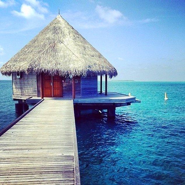 11. Ithaa Yeraltı Restoranı | Rangali Adası, Maldivler.