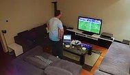 Bu Görüntüler Çok Tartışılır! Eşi Tarafından Fena Troll'lenen Futbol Fanatiği Adam Sinir Krizi Geçiriyor