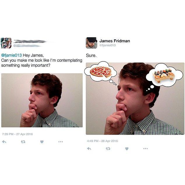 15. Suşi mi yesem pizza mı yesem diye düşünmek ciddi bir iştir