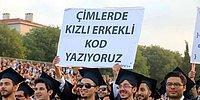 Boğaziçi Üniversitesi Mezuniyet Törenine Damga Vuran Renkli ve Gönderme Dolu 19 Pankart