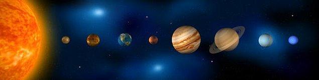 19. Dünya ve Güneş arasındaki mesafe, art arda eklenen 100 tane Dünya'yı daha içine alabilecek büyüklüktedir.