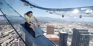 Yerden 300 Metre Yükseklikteki Cam Kaydıraktan Kaymak Yürek İster!