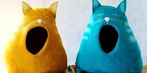 12 стильных кошачьих домиков и подстилок: порадуй своего любимца