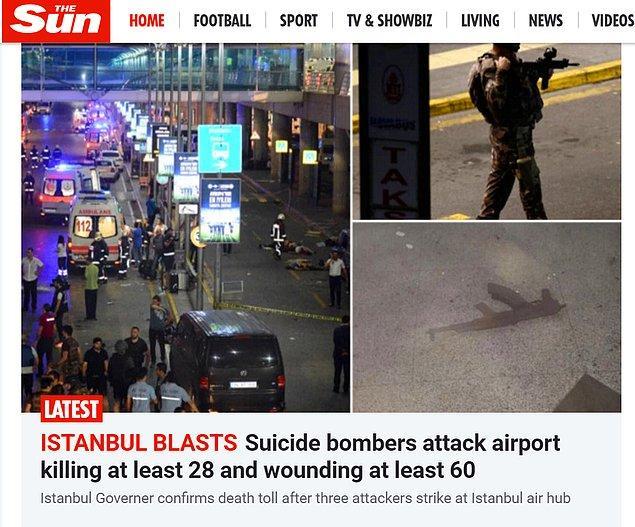 İngiliz The Sun gazetesi de haberi ana sayfadan veren kuruluşlardan.