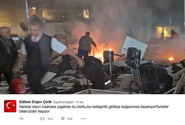 Üstelik Ergen'in olay yaratan tweetindeki fotoğraflardan biri Brüksel saldırısına aitti.