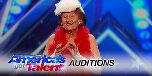 """Стриптиз от 90-летней Дороти на """"Шоу талантов"""""""