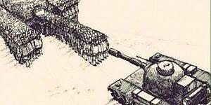 Darbeye, Militarizme Karşı Duruşunu Etkili Bir Şekilde İfade Eden 16 İllüstrasyon