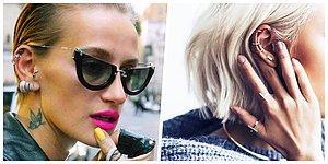Göz Alıcı Tarzlarıyla Dillerden Düşmeyen Cesur Kadınların Trendi: Kulak Piercingleri