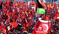 Binlerce Kişi 'Cumhuriyet ve Demokrasi Mitingi' İçin Taksim'deydi