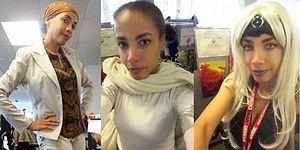 Patronunun Başörtüsüne Karışmasıyla İşe Her Gün Farklı Bir Kostümle Giden Azimli Kadın!