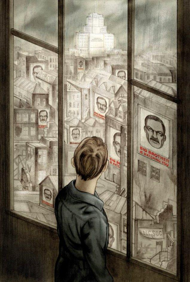 3. Sanatçının kafası sadece isim değil, olayın geçtiği tarih hakkında da karışıktı. Orwell, 1984 yerine; 1980 ve 1982 tarihlerini de düşünmüştü.