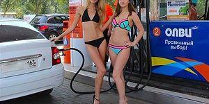 Rekabetin Böylesi: Bikiniyle Gelene Bedava Benzin Veren Benzinlik