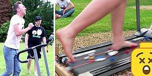 Koşu Bandına LEGO Dökerek Üzerinde Koşmaya Çalışan Çılgın Ekip