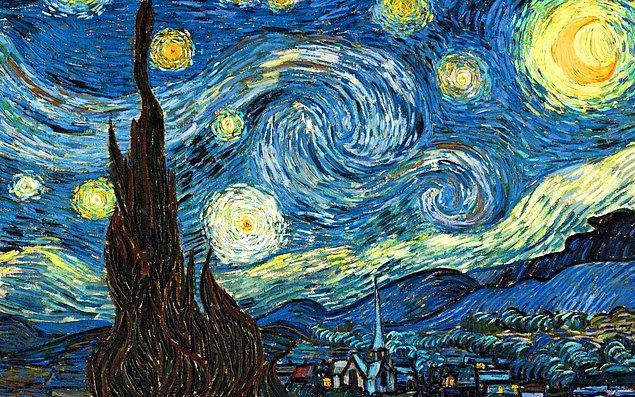 """1. Van Gogh'un """"Yıldızlı Gece"""" Tablosundaki İnanılmaz Bilimsel Gizem Çözüldü!"""