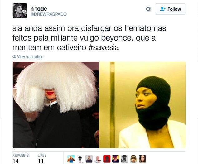 İddialara göre Sia'nın yüzünü kapatan peruk takmasının nedeni, Beyoncé'nin onun yüzünde yarattığı tahribattı!