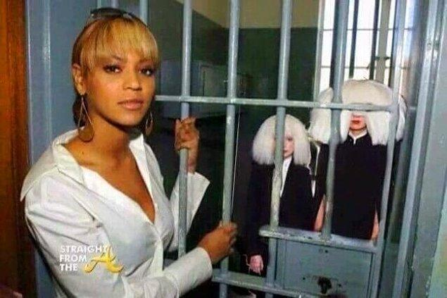 Frankenstein benzetmesi, Sia'nın Beyoncé tarafından alıkonulduğu ve küçük bir odada söz yazmaya zorlandığı dedikodularının alıp başını gitmesine neden oldu.
