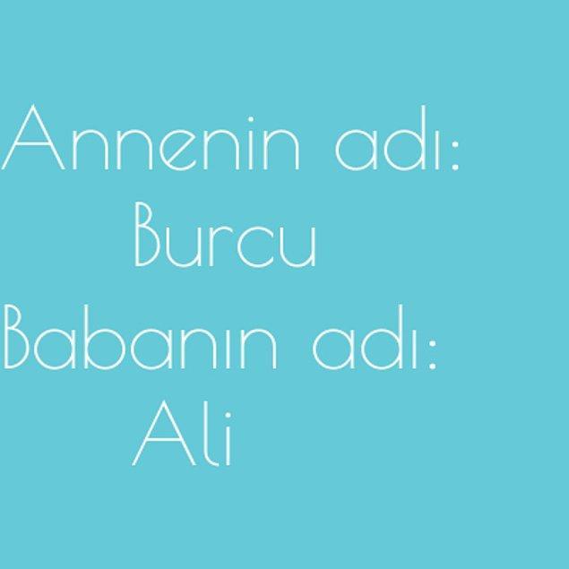 Burcu ve Ali!