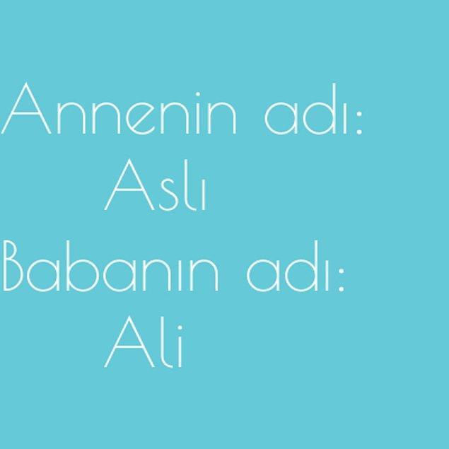 Aslı ve Ali!