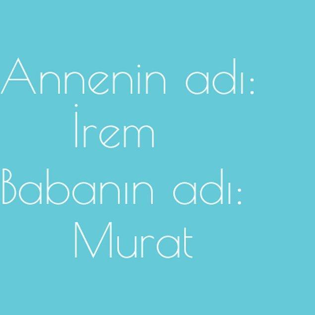İrem ve Murat!