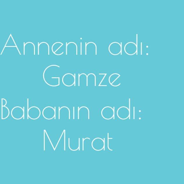 Gamze ve Murat!