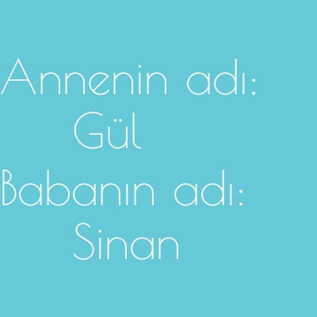 Gül ve Sinan!