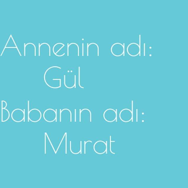 Gül ve Murat!