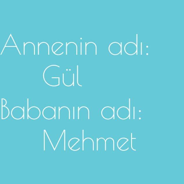 Gül ve Mehmet!