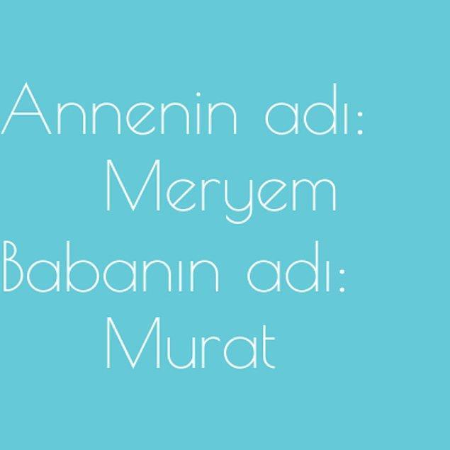 Meryem ve Murat!