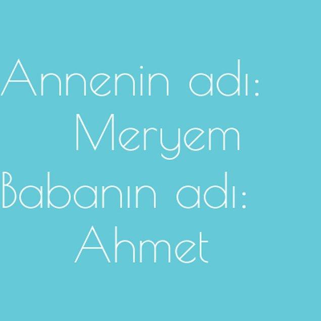 Meryem ve Ahmet!