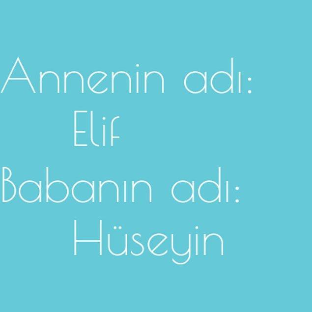 Elif ve Hüseyin!