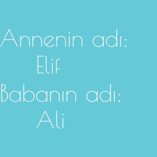 Elif ve Ali!