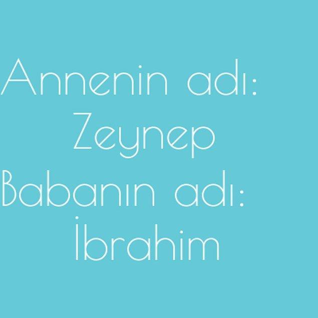 Zeynep ve İbrahim!