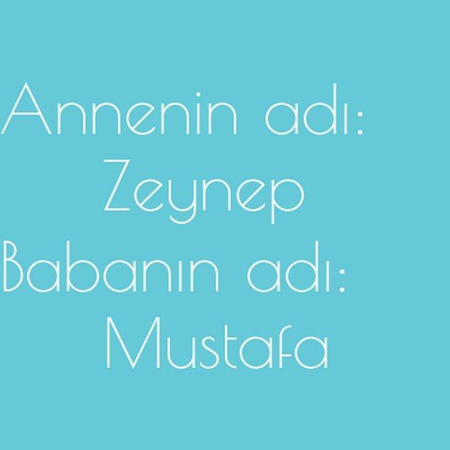 Zeynep ve Mustafa!