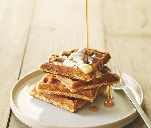 13. Çıtır çıtır waffle keyfinden de mahrum kalmayabiliriz!