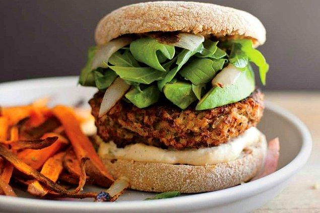 1. Vejetaryenler hamburger yiyemez diye bir şey yok!