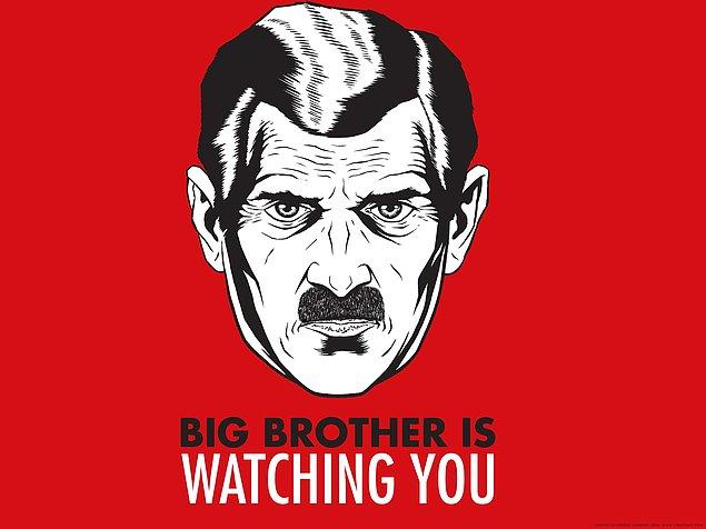 7. Orwell, kitabı yazdığı süreçte, gerçekten gözetim altında tutuluyordu.