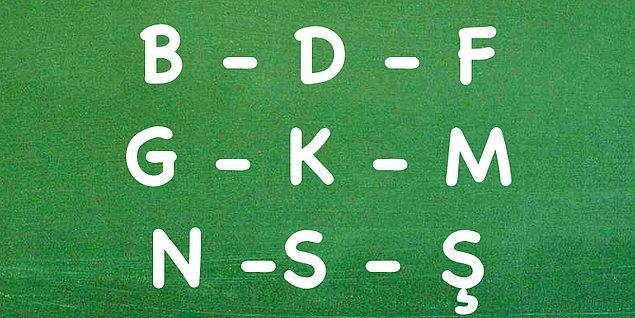 4. Peki adında veya soyadında ''b, d, f, g, k, m, n, s, ş'' harflerinden en az biri var mı?