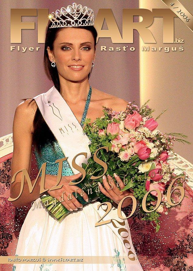 Ve 2006 yılında Miss Slovakya'da birinci seçilmiş.
