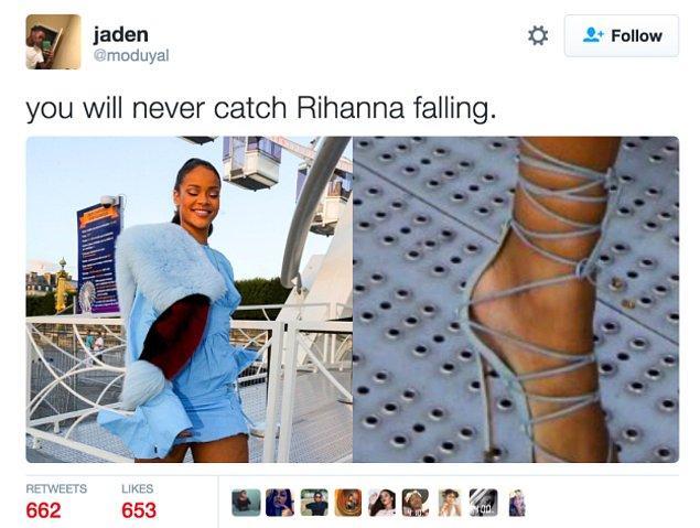 'Rihanna'yı asla düşerken göremezsiniz'